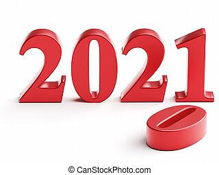 2020, remplace, vieux, 2021, année, nouveau