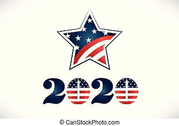 2020 Vote USA Flag Star Logo