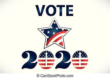 2020 Vote USA Flag Star