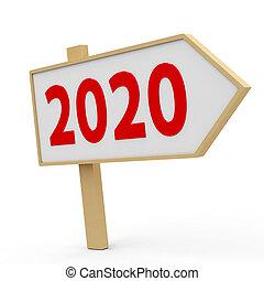 2020 white banner