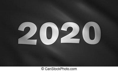 2020 written on the black flag