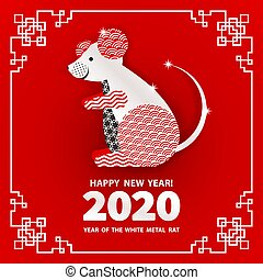 2020 Year of the RAT - Rat is a symbol of the 2020 Chinese...