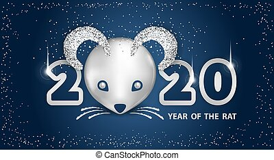 2020 Year of the RAT - White Metallic Rat is a symbol of the...