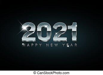 2021, καινούργιος , ευτυχισμένος , έτος , minimalistic , μικροβιοφορέας , μοντέρνος , κάρτα