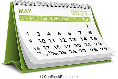 2021, calendário, maio