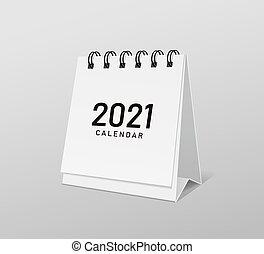 2021 Calendar white paper template design,