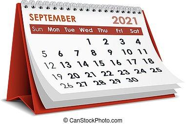 2021, calendrier, septembre