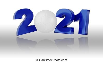 2021, conception, infini, handball, rotation, blanc