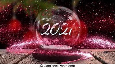 2021, globe, neige