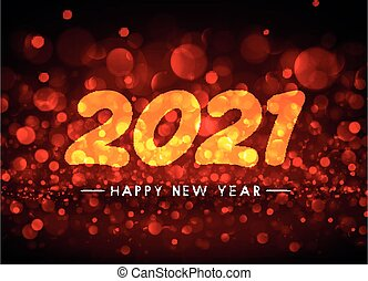 2021 happy new year transparent sign.