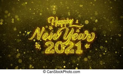 2021 Happy New Year Wishes Greetings card, Invitation,...