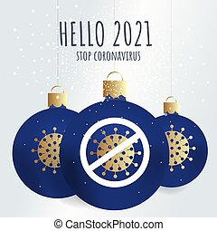 2021., internet., 新しい, 広場, こんにちは, 社会, 媒体, 使用, 風船, 青, あなた, 希望, シンボル。, それ, クリスマス, 年の, 缶, coronavirus, virus., year., poster., format., 印刷, 概念, 止まれ, 優雅である, カード