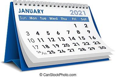 2021, januari, kalender