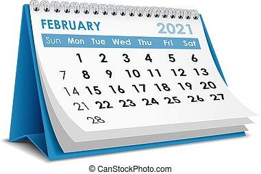 2021, kalender, februar