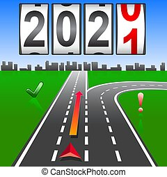 2021 New Year replacement of navigation way forward.