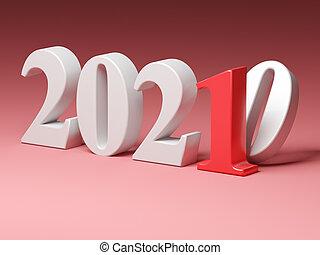 2021, nouveau, remplace, année vieille, 2020