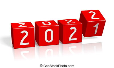 2021/2022 New Year change concept