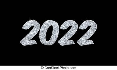 2022 Happy New Year Blinking Text Wishes Particles...