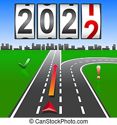 2022 New Year replacement of navigation way forward.