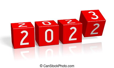 2022/2023 New Year change concept