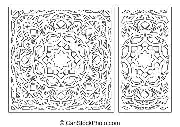 2077 Laser Set 2 - Set decorative card for cutting laser or ...