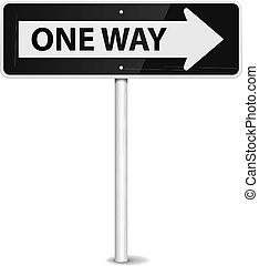 2082 one way - One way arrow