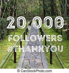 20k followers