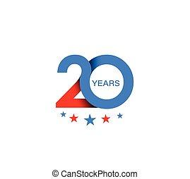 20th Years Anniversary Celebration Design.