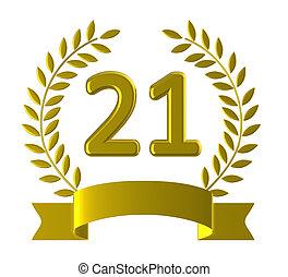 21, erőforrások, huszonegy, születésnap, boldog