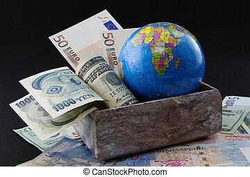 21 sekel, global, portfölj, tillfälle, investering