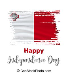 21 September, Malta Independence Day background in national...