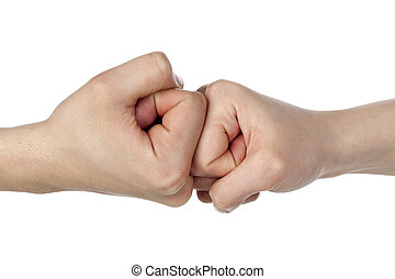 212 fist bump - A close up image of a fist bump against...