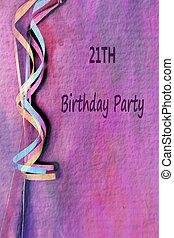 21th, verjaardagsfeest