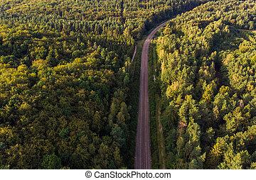 22, agosto, panorama, polônia, -, 2019:, gdynia, estrada...