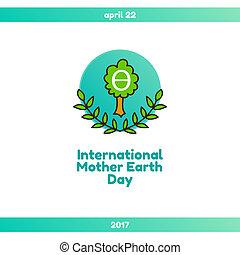22, madre, abril, día, tierra, internacional