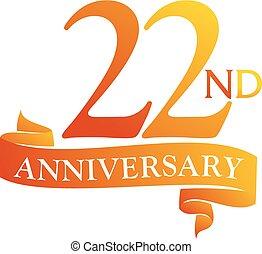 22 Year Ribbon Anniversary