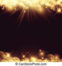 2201, fond, résumé, lumières, bokeh, étoiles