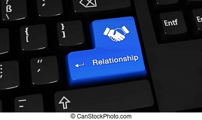 224. Relationship Rotation Motion On Computer Keyboard Button.