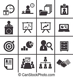 228-2organization and business management icon set