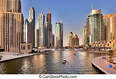 23, 都市, マイル, 刻まれた, 23:, UAE, 運河, 湾, 伸張, -, 2, 人工, 2012, 海岸線,...