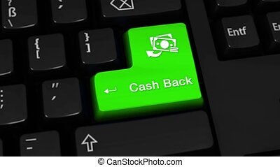 23. Cash Back Rotation Motion On Computer Keyboard Button.