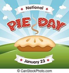 23, enero, día, feriado, pastel