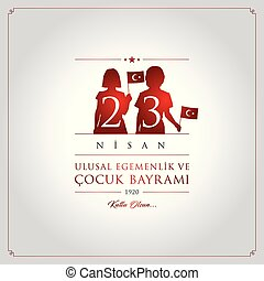 23 nisan cocuk bayrami vector illustration. (23 April, ...