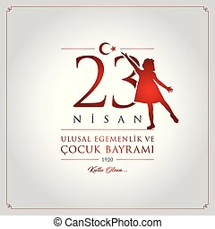 23 nisan cocuk bayrami vector illustration. (23 April,...