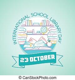 23 october International School Library Day