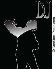 23(3).jpg - artistic vector illustration of black dj...