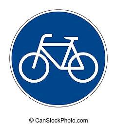 237, route, sentier, signe, allemand, vélo