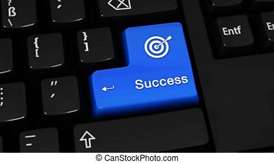 239. Success Rotation Motion On Computer Keyboard Button. -...