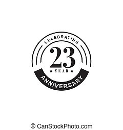 23rd anniversary logo design template - 23rd anniversary ...