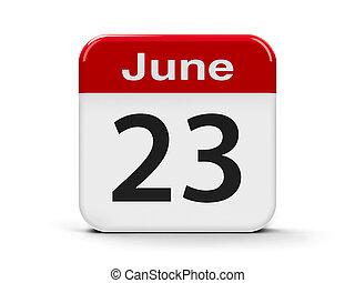 23rd June - Calendar web button - The Twenty Third of June -...